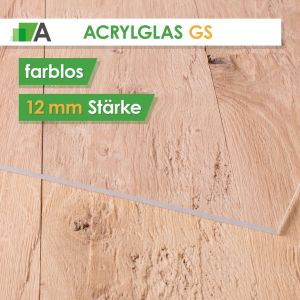Acrylglas GS Stärke 12 mm farblos