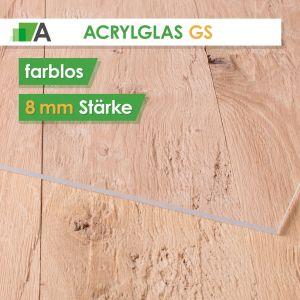 Acrylglas GS Stärke 8 mm farblos