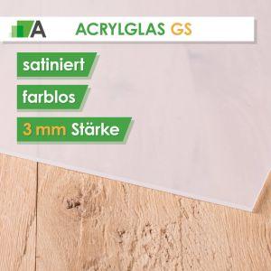 Acrylglas GS Stärke 3 mm satiniert farblos