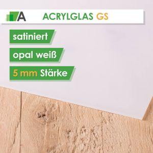 Acrylglas GS Stärke 5 mm satiniert opal weiss