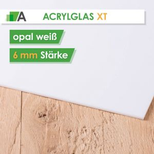 Acrylglas XT Stärke 6 mm opal weiß