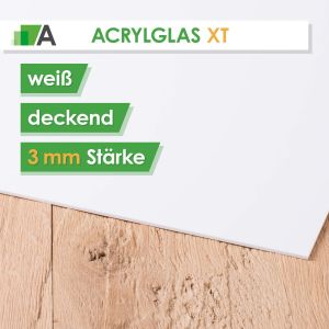 Acrylglas XT Stärke 3 mm weiss deckend