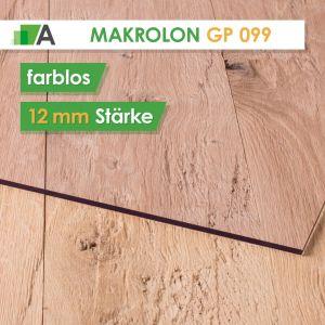 Makrolon GP 099 standard Stärke 12 mm farblos