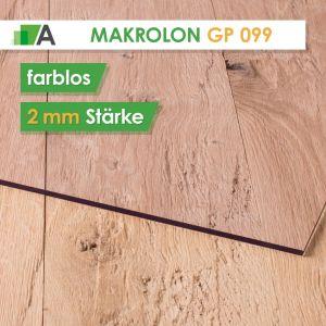 Makrolon GP 099 standard Stärke 2 mm farblos