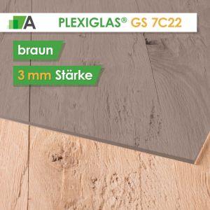 PLEXIGLAS® GS Stärke 3 mm braun 7C22