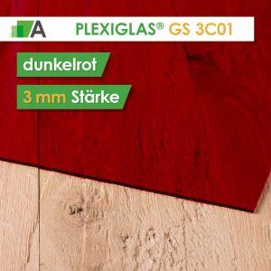 PLEXIGLAS® GS Stärke 3 mm rot 3C01