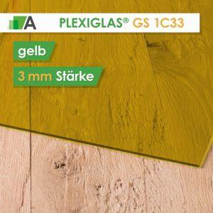 PLEXIGLAS® GS Stärke 3 mm gelb 1C33