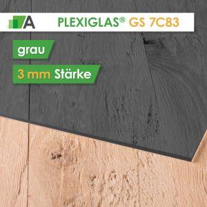 PLEXIGLAS® GS Stärke 3 mm grau 7C83