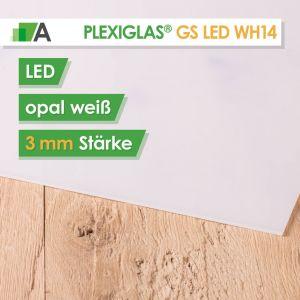 PLEXIGLAS® GS LED weiß WH14 Stärke 3 mm für LED Hinterleuchtung