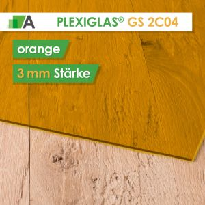 PLEXIGLAS® GS Stärke 3 mm orange 2C04