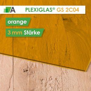 PLEXIGLAS® GS Stärke 3 mm orange 2C04