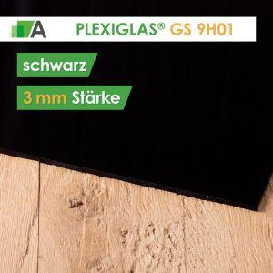 PLEXIGLAS® GS Stärke 3 mm schwarz 9H01