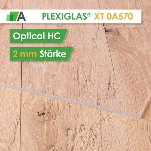 PLEXIGLAS® XT optical HC Stärke 2 mm farblos 0A570