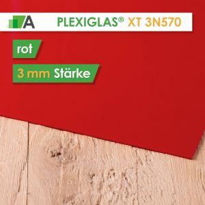 PLEXIGLAS® XT Stärke 3 mm rot 3N570
