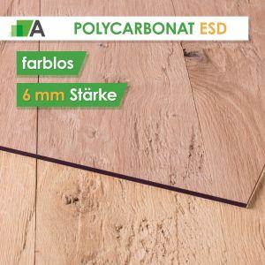 Polycarbonat ESD antistatisch Stärke 6 mm farblos