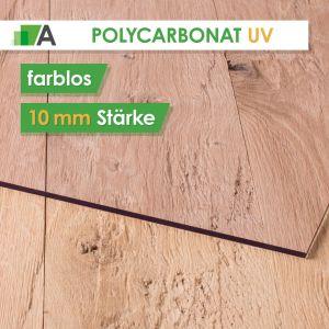 Polycarbonat UV Stärke 10 mm farblos